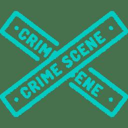 """Piktogramm Absperrbänder Tatort """"Crime Scene"""" - Penibel Entrümpeln Deutschlandweit"""